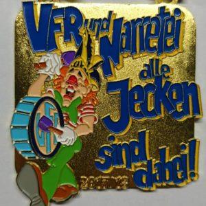 """Besser spät als nie – Unser neuer Orden zum Motto """"VFR und Narretei – alle Jecken sind dabei!"""""""