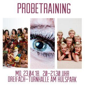 Neuer Termin!!! – Neue Session – neue Chance: Probetraining der Showgirls – Neuer Termin!!!